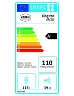 Energieklasse A+  - Union Jack Retro-Kühlschrank - Kingston