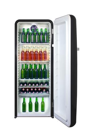 Getränke Retro-Kühlschrank in Schwarz - GCRC220 – Gastro-Cool ...