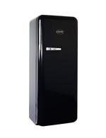 Schwarzer Retro-Kühlschrank