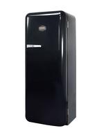 Schwarzer Kühlschrank im Retro-Design