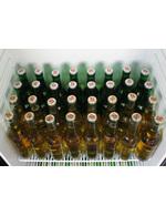 Detailbild gefüllter Getränkekühlschrank im Retro Style