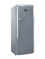 Retro Kühlschrank Silber