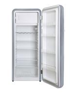 Retro Kühlschrank Silberfarben - Innenansicht