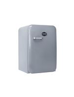 Silberner Retro-Kühlschrank Kingston von Vintage Industries