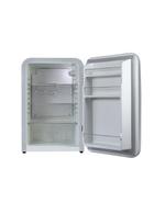 Detailbild Innenansicht - silberner Retro-Kühlschrank Kingston