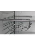 Detailbild Kingston - Weinregal - silberne Kühlschrank im Retro Look