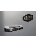 Detailbild vom silberne Vintage Industries Retro-Kühlschrank