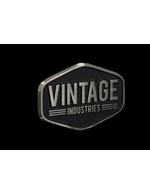 Vintage Industries Label vom Retro Kühlschrank Miami