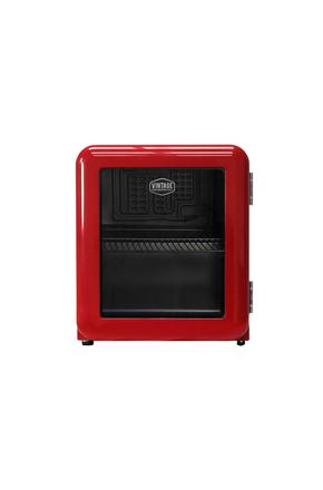 Roter Mini Kühlschrank im Retro-Design