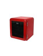 Mini Glastürkühlschrank im Retro-Design