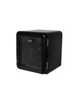 Retro-Kühlschrank mit Glastür in komplett schwarz