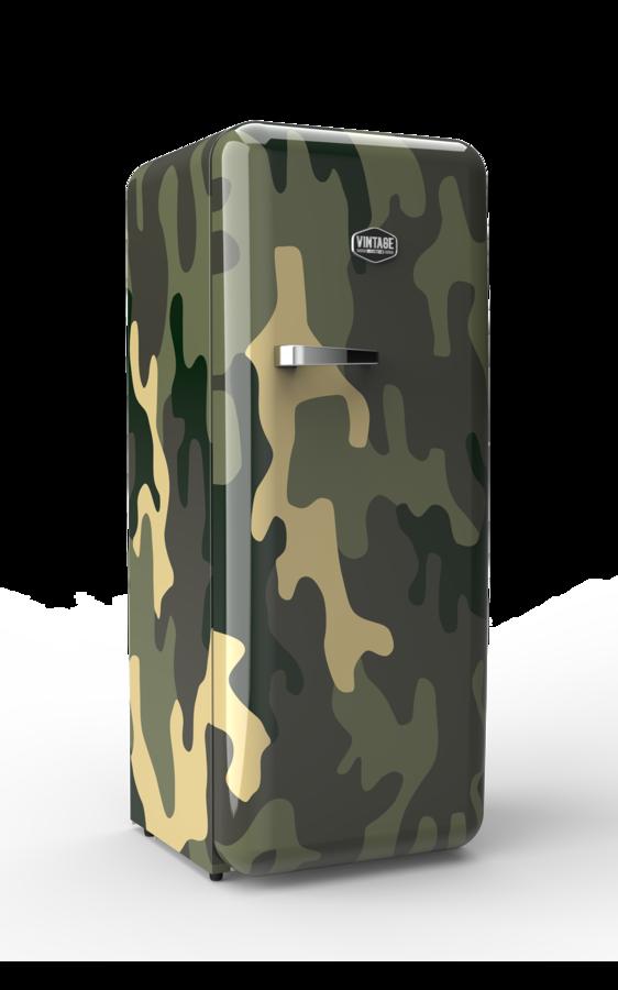 retro k hlschrank jungle camouflage design sonderedition gastro cool g nstig k hlen. Black Bedroom Furniture Sets. Home Design Ideas