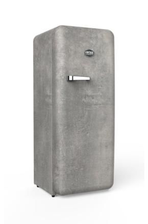 Vintage Industries -  Retro-Kühlschrank Beton Sondermodell Banksy
