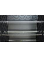Detailld der Einlegeböden / Glasböden vom Vintage Industries Kühlschranks