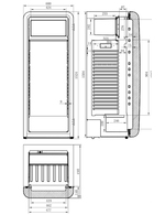 Vintage Industries Retro Kühlschrank Havanna - Innenmaße