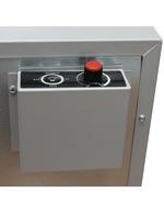 Detailbild Temperaturkontrolle und Lichtschalter vom Mini Glastürgefrierwürfel