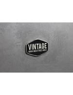 Nahaufnahme Vintage Industries Retro Kühlschrank Banksy