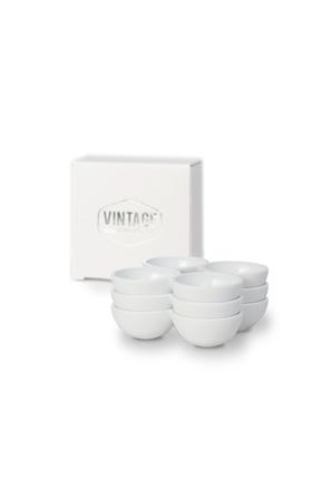 Vintage Industries - 3er Set weiße Eierhalter für den Kühlschrank