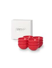 Set - 3 rote Eierhalter für den Kühlschrank - Vintage Industries