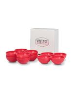 Rote Eierhalter / Eierbecher im Set von Vintage Industries