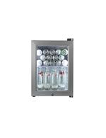 Minibar - silberner Flaschenkühlschrank mit Glastüre