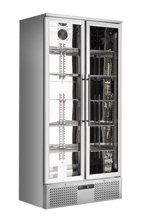 Edelstahl Umluft-Gewerbekühlschrank - GCGD500
