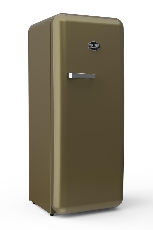 Sonderedition - Retro-Kühlschrank Gold (RAL 1036) - VIRC330 – Gastro ...