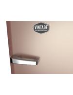 Detailbild Griff vom rosè goldenen Retro-Kühlschrank