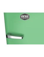Detailbild Griff vom perlmattgrünen Retro-Kühlschrank