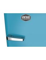 Detailbild Griff vom ferienblauen Retro-Kühlschrank