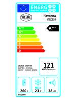 A+++ Energieklasse - Retro-Kühlschrank tieforange