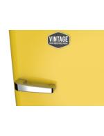 Detailbild Griff vom schwefelgelben Retro-Kühlschrank