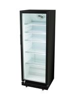 Gastro-Cool Glastürkühlschrank - 360 Liter Volumen / schwarz mit weißem Innenraum