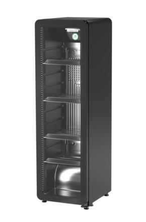 Retroslim Glastürkühlschrank GCGD 135 in schwarz
