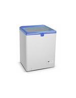 Steckerfertige Kühltruhe für Eis mit Glasdeckel - GCFC100 - weiß/blau