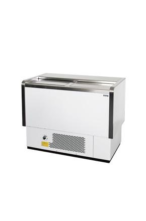 Flaschenkühltruhe - Event Kühltruhe gastro - Edelstahl - 4 Mobilitätsrollen - GCKT120