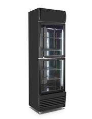 Werbekühlschrank mit Doppeltüre und LED-Beleuchtung – GCDC340