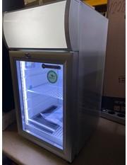 Zweite Wahl Theken-Displaykühlschrank - silber/weiß - GCDC25