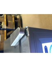 Zweite Wahl Kühlschrank mit Glastür - silber - LED Innenbeleuchtung - GCKW65